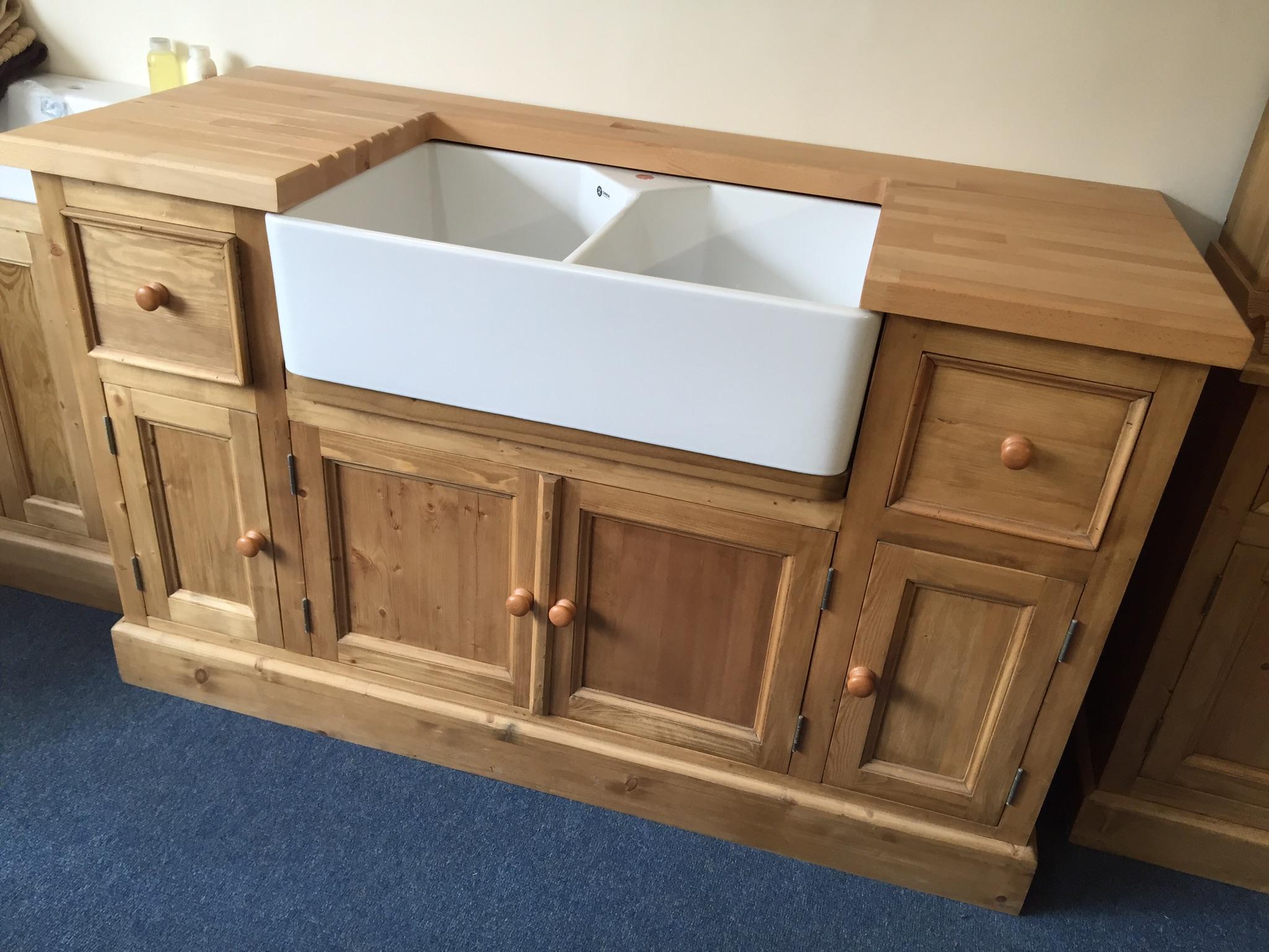 Freestanding Kitchen Sink Unit Winkleigh Timber Devon Quality Hand Crafted Wood